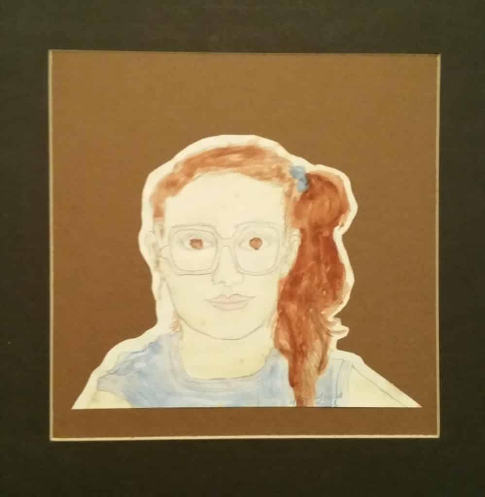 9th gr self portrait Teresa TL Bruce