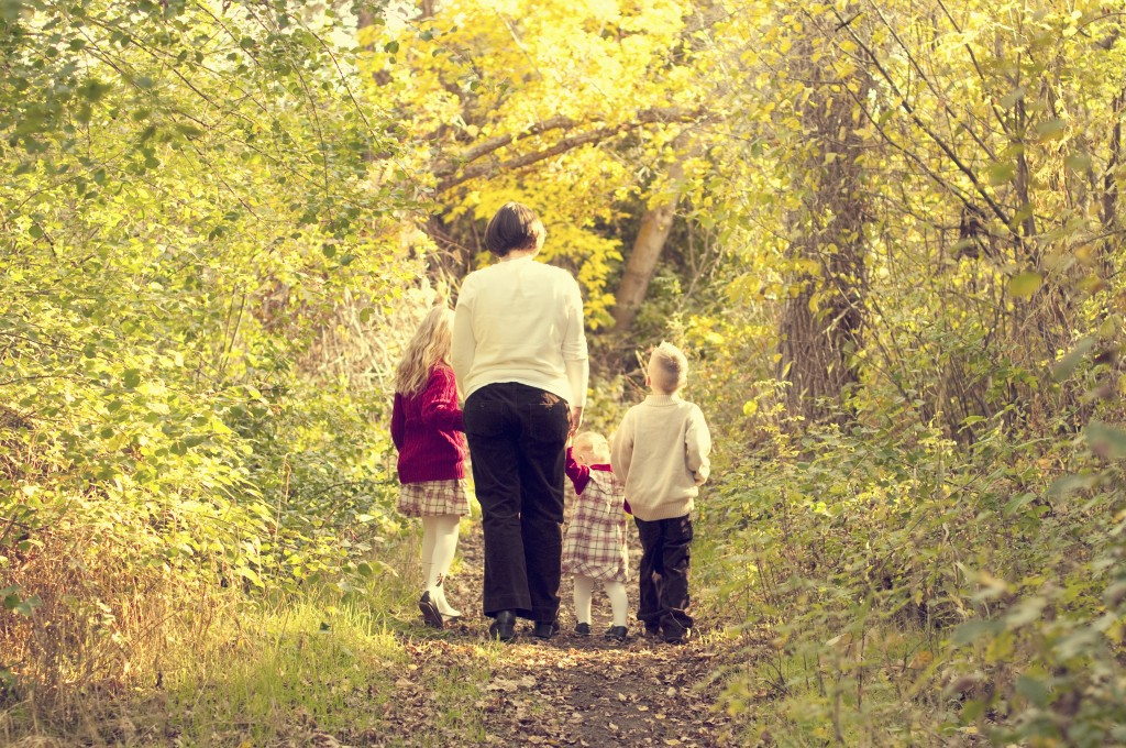 My children and I starting a new path in 2011. Photo by Katie Stirling