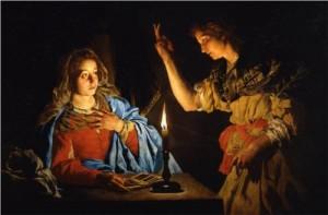 Annunciation by Matthias Stom